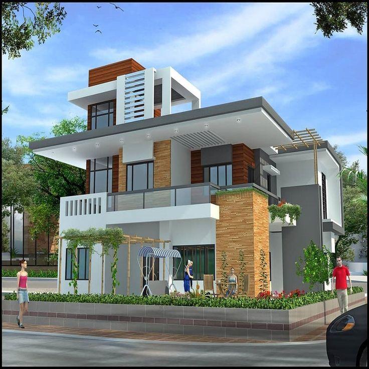 Modern Residential Exterior By Ar Sagar Morkhade: Pin By Ranjitha Ranju On Photo Wall In 2019