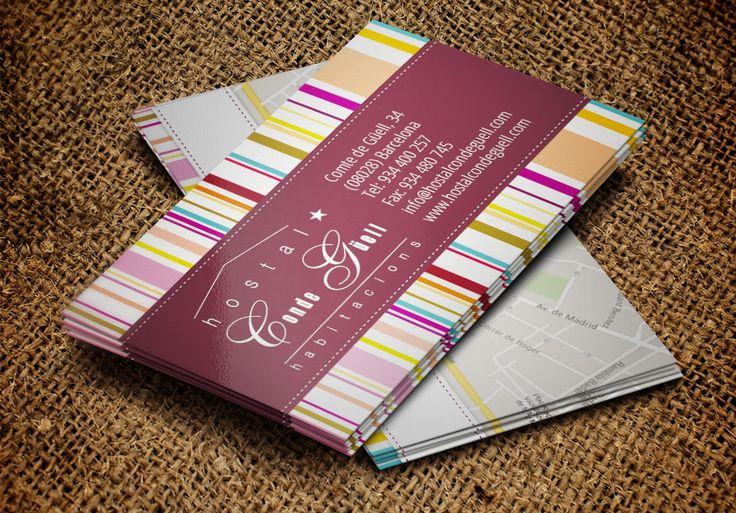 Diseño de tarjetas de visita Hostal Conde Güell | Dolphin Tecnologías