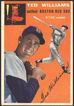 Ted Williams 1954 baseball card