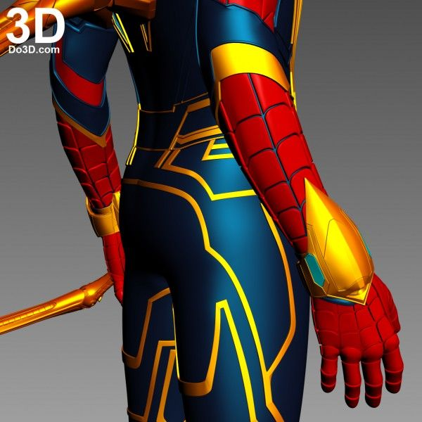 3d Printable Model Iron Spider Superior Spider Man With Back