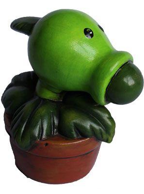 ´Plantas vs Zombis´ cerámica pintada a mano. Medidas:25x15cm www.barenka.com