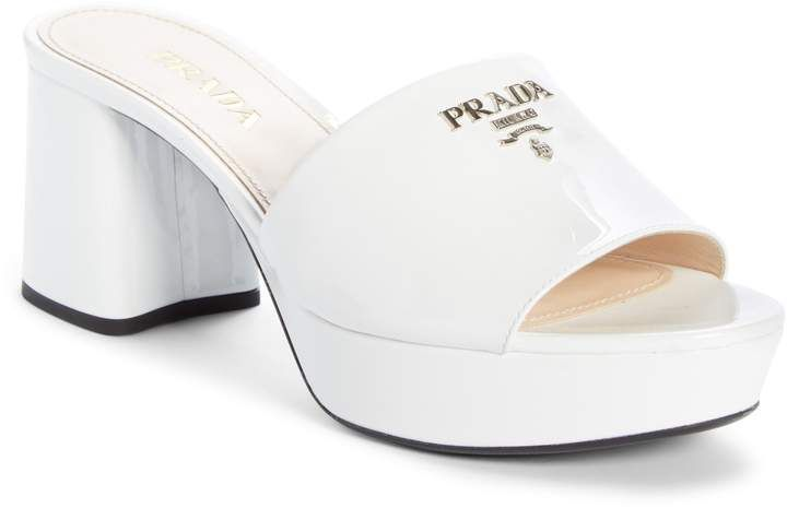 Prada Platform Slide Sandal   Sandals