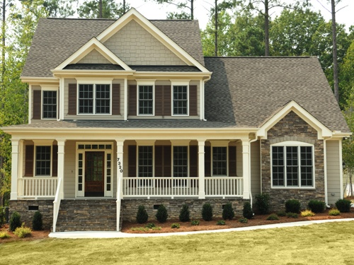 Custom Built Home With Stacked Stone Accents My Space