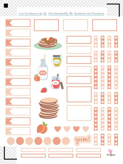 Happy Pancake Day! Free printable ECLP Hourly stickers