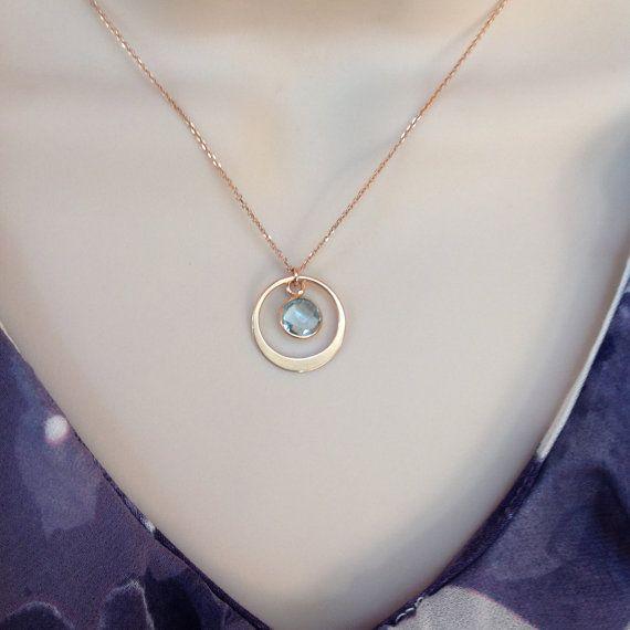 Collier cercle or rose bijoux en or rose par WendyShrayDesigns