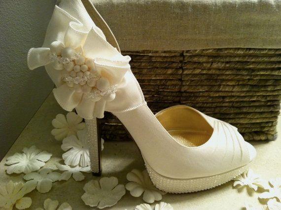 Ivory Wedding High Heels
