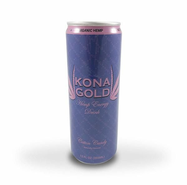 Kona Gold Cotton Candy Hemp Energy Drink 12 0 Fluid Ounces 12 Pack Zero Calories Zero Sugar Natural Flavors Organic He Natural Flavors Hemp Protein Drinks