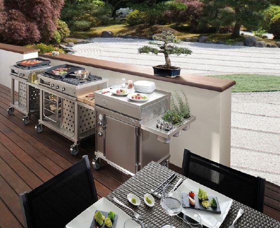 Con l 39 estate in arrivo perch non pensare ad una cucina da esterno scoprirete che esistono - Cucine da giardino ...