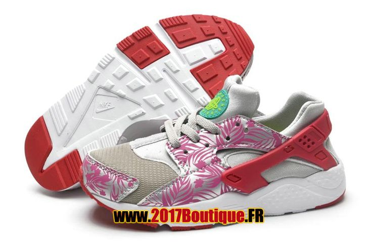 Nike Huarache Run (PS) Chaussure Nike Sportswear Pas Cher Pour Enfant Gris / Rose