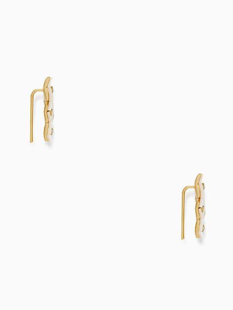 Kate Spade Disco Pansy Ear Pin, Cream