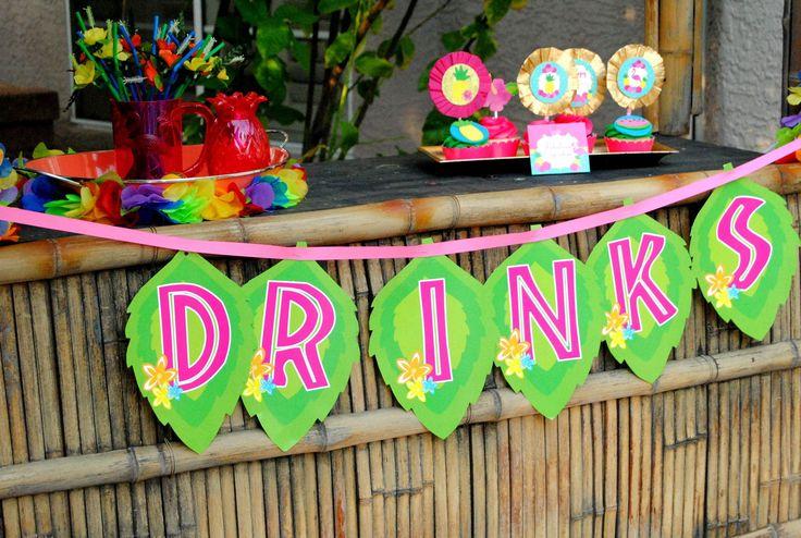 FLAMINGO PHOTO PROPS - Pink Flamingo - Flamingo Party - Luau Printables - Summer Party - Hawaiian Luau Party- Luau Party