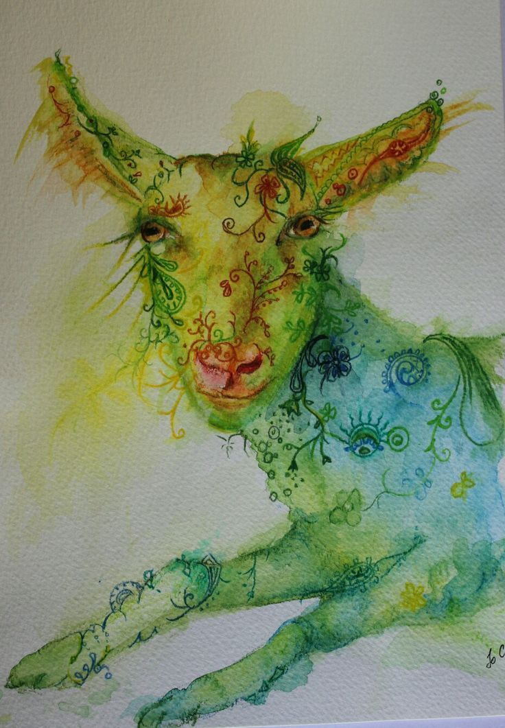 Ink african animals - Peace the Lamb by #joannacookeart.com