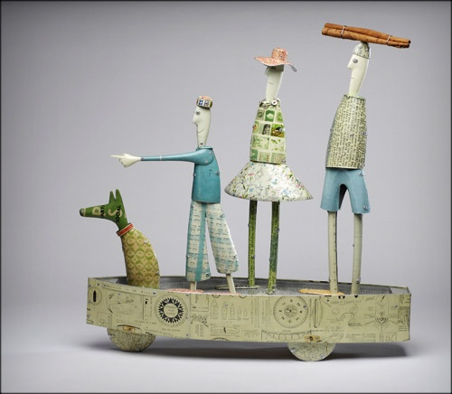 ⌼ Artistic Assemblages ⌼ Mixed Media, Journal, Shadow Box, Small Sculpture Collage Art - abbott and ellwood
