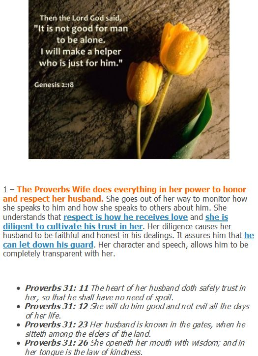 5 Biblical Characteristics of A Proverbs Wife