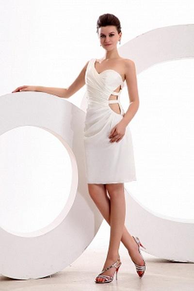 Une Épaule Gaine Robe De Taffetas Formelle Colonne rm2490 - http://www.robesmariees.com/une-epaule-gaine-robe-de-taffetas-formelle-colonne-rm2490.html - Décolleté: Une Épaule. Tissu: Taffetas. Manche: Sans Manches. Couleur: Blanc. Silhouette: Gaine / Colo