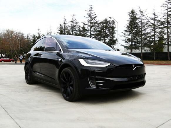 Tesla Model X. Black SUV.                                                                                                                                                      More