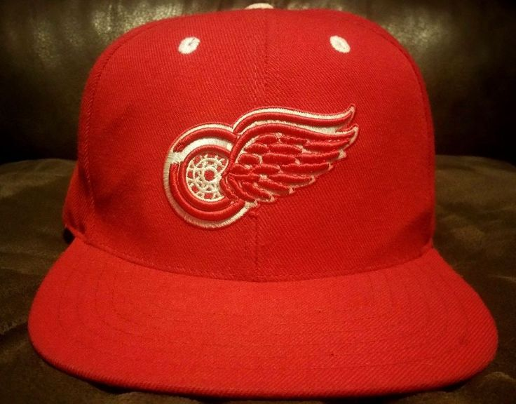 Vintage DETROIT RED WINGS American Needle NHL Hockey Red Snapback Cap Hat  #AmericanNeedle #Cap #Casual