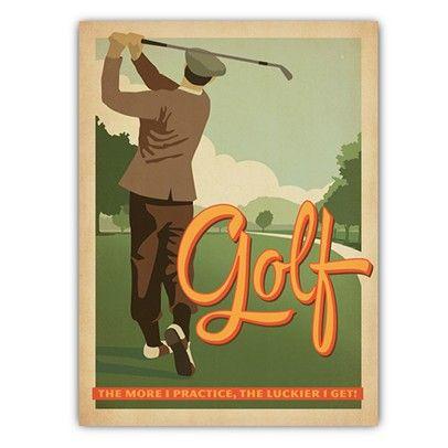 Golf Vintage Golf Poster Practice Golf