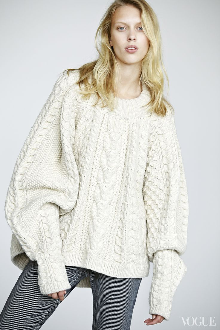 The shoulders hunch, the sleeves scrunch; the fisherman's sweater of our dreams is now a reality. Juliana Schurig wearing a The Row wool-cashmere sweater, $4,490saksfifthavenue.com