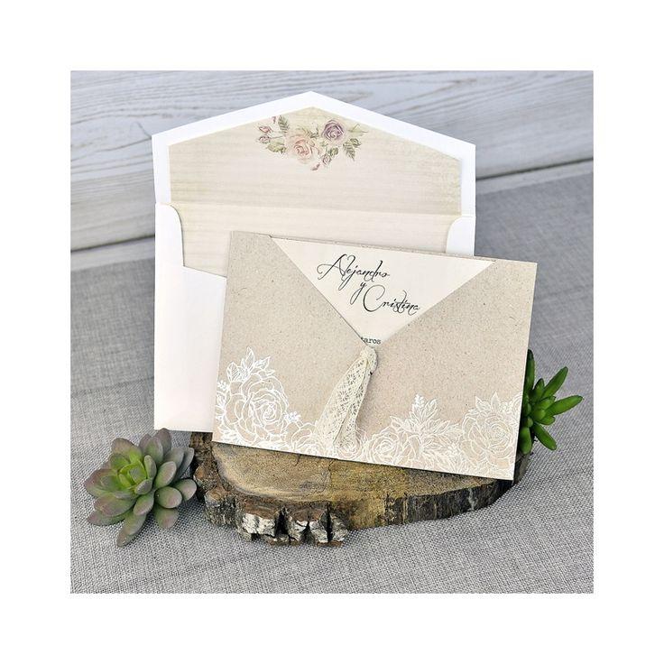 Invitacion de boda en sobre original
