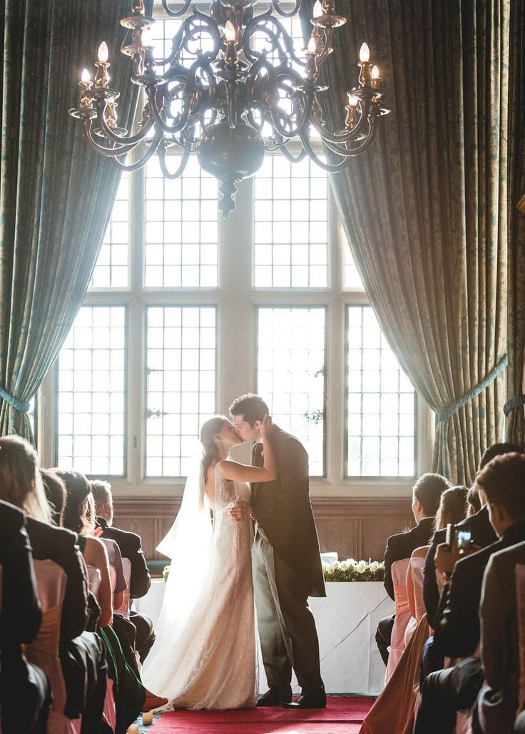 Wedding Kiss Rhinefield House Hotel photography by