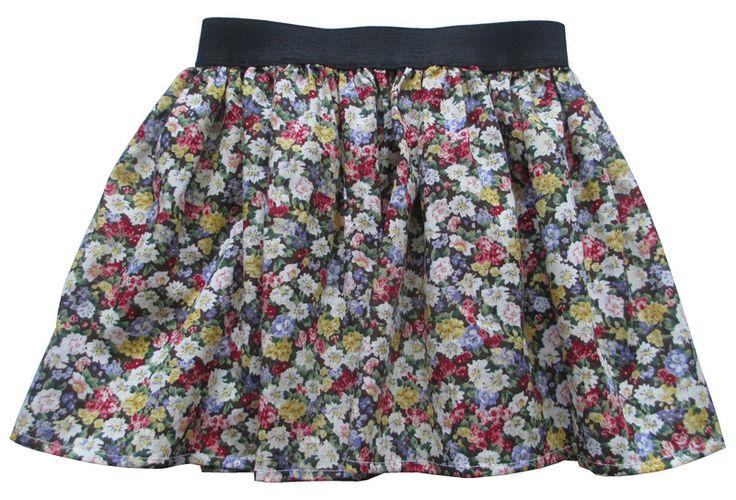 Spódnica kwiaty dla dziewczynki 110 116 - Anetmoda - Spódniczki dla dziewczynek