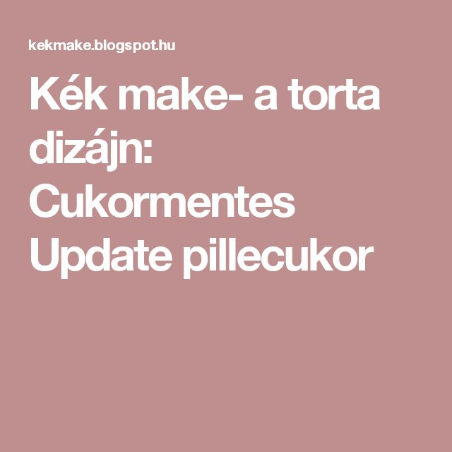 Kék make- a torta dizájn: Cukormentes Update pillecukor