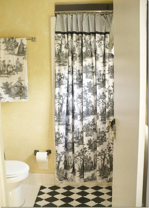 Lt Blue Toile Curtains With Images Toile Curtains French