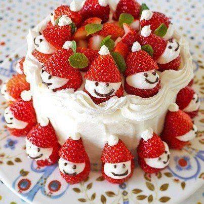 Cute Christmas Cake Images : Cute Christmas idea cake. GF Desserts Pinterest
