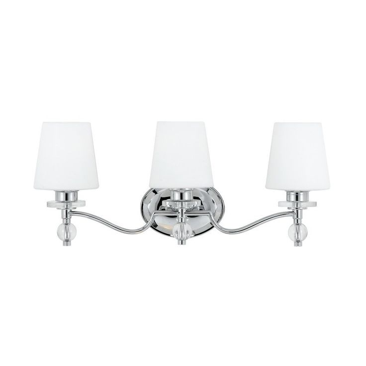 Quoizel Hollister 3-Light 10-In Polished Chrome Cone Vanity Light Bar  Hs8603c