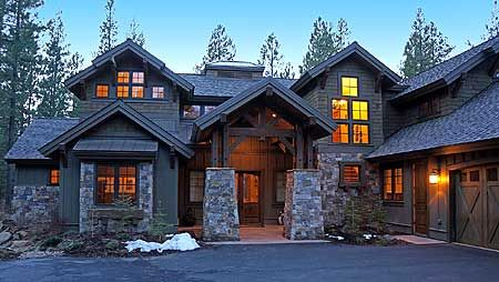 House plan 54200HU. 4 master suites. Love the exterior style!