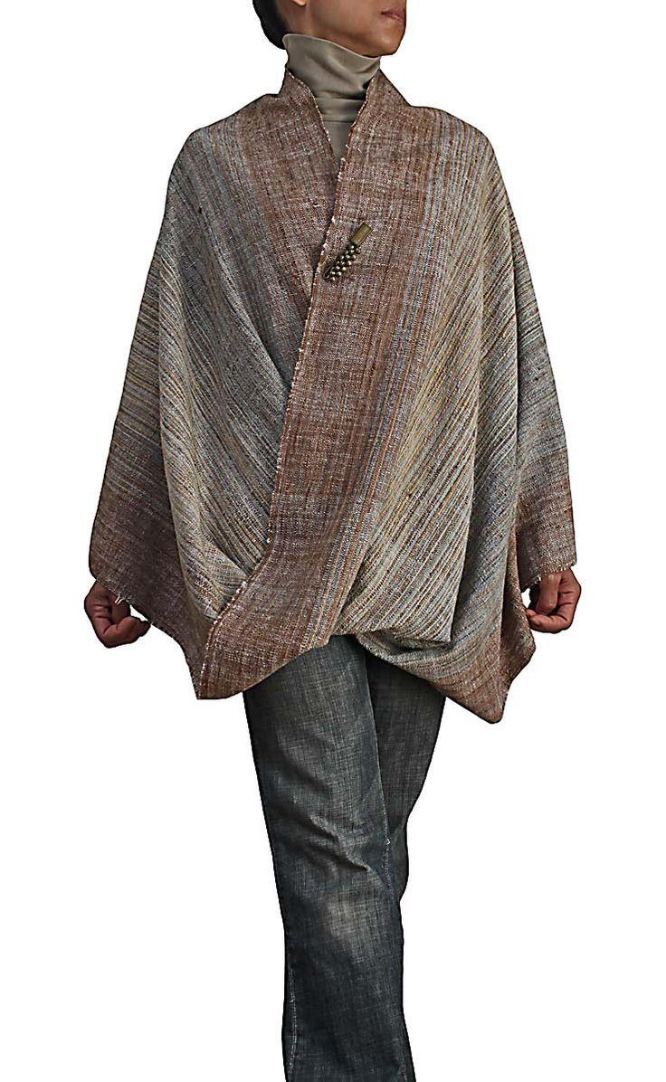 天然草木染めオーガニック手織り綿のスヌード BFS-107-01