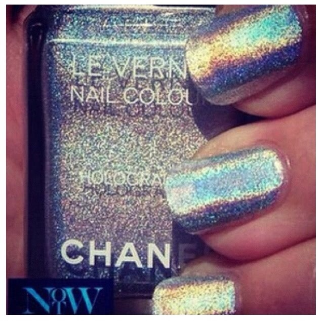 NailsHair Obsession, Silver Nails Polish, Hair Makeup Nails, Nails Hair Makeup, Perfect Polish, Nails Oo, High Fashion, Chanel Holographic, Chunky Glitter