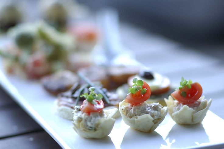Chicken Canape Tortilla Cup - Crave Catering