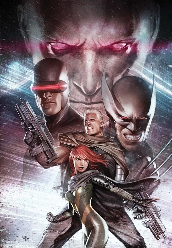Great art for X-Men! Wolverine, Cable.  Marvel Comics
