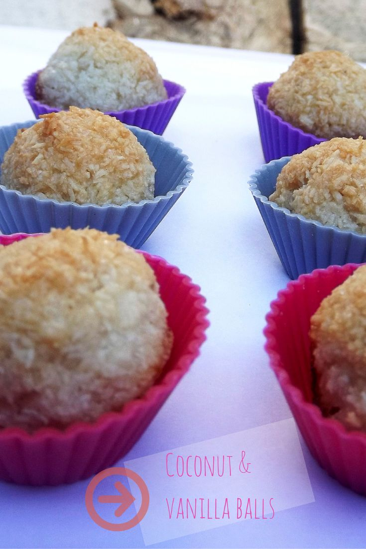 HOW TO make coconut and vanilla balls, sweet, fast and easy recipe to make!