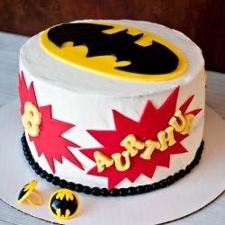 Super Simple Batman Cake with Free Printable Templates. You can do this, It's so easy!