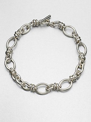 Pomellato 67 Sterling Silver Chain Link Necklace
