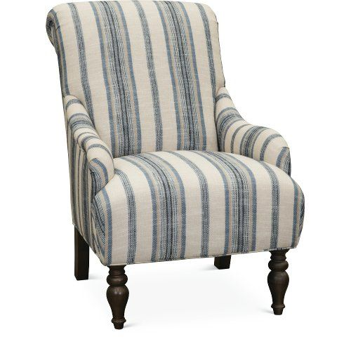 Best Classic English Striped Accent Chair Survey Blue 400 x 300