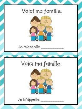 La Famille bundle - French family vocabulary sheet and wri