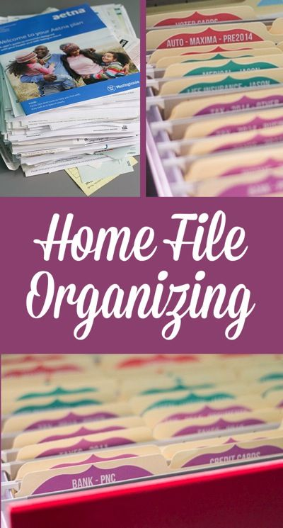 DIY Home file organizing system. Keep all the important papers tidy in your office.