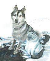 """""""Nicko and Oliver"""" Acrylic on watercolour paper Let me paint your best friend - www.furryfaces.co.nz"""