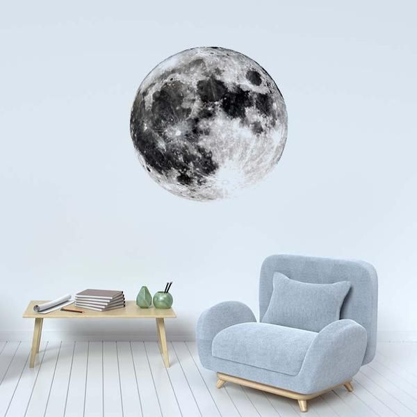 Luna (Moon) removable wall decal from Print4One. Easy-to-use, peel and stick decal. Makes a great focal point on any wall. This is a vivid and high definition image.
