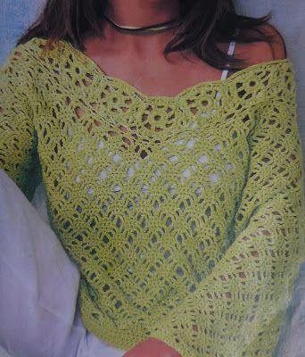 Domowy kołowrotek: Wzór szydełkowy na sweter