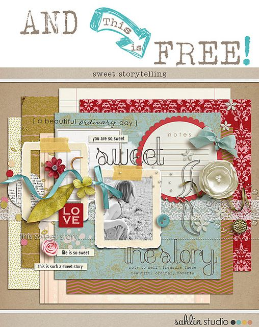Free Digital Scrapbooking Kits by Sahlin Studios Plus Free matching Facebook Timeline Cover | *Free ♥ Pretty ♥ Things ♥ For ♥ You*