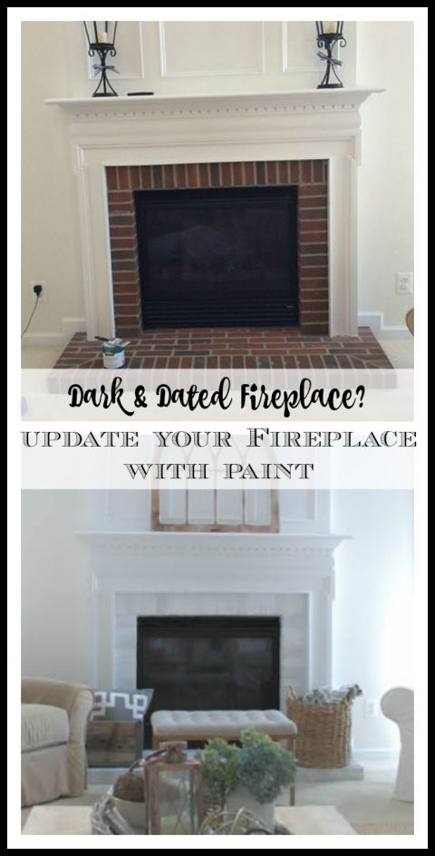 How to Paint Your Fireplace Brick Surround – 11 Magnolia Lane