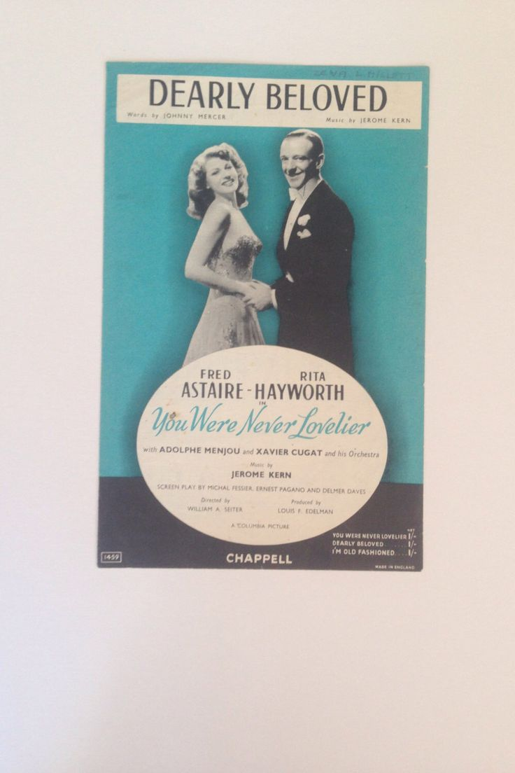 A personal favourite from my Etsy shop https://www.etsy.com/uk/listing/476799635/vintage-1940s-music-sheet-from-film-you