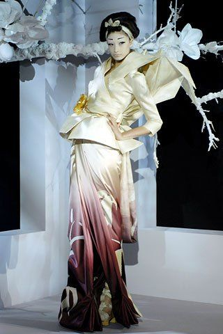 Christian Dior Haute Couture Spring 2007: An inspiration of Japanese Kimonos and Origami irises and Fortune-tellers
