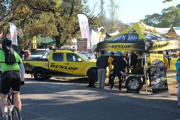 The Dunlop stand at the Nissan TrailSeeker1 Diamond Rush