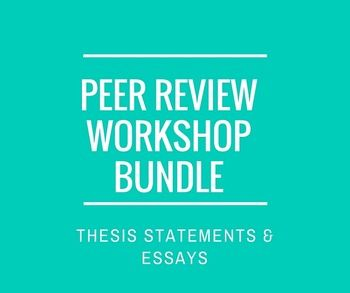 Peer review thesis statement
